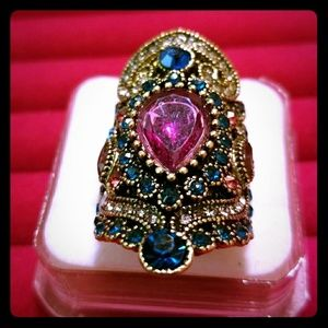 Jewelry - Turkish Bohemian Style High End Crystals Ring S7